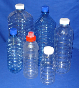 Distilled water bottles
